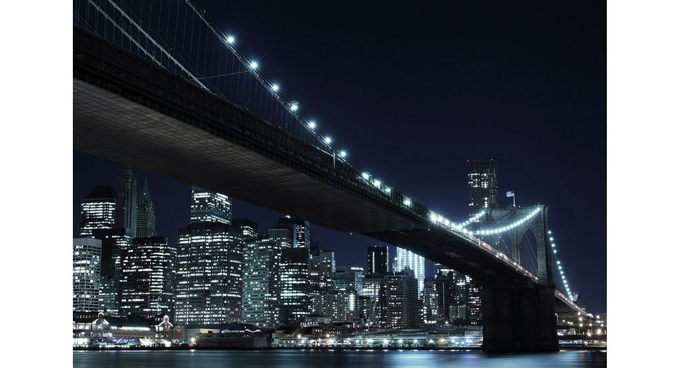 Home affaire Fototapete »New York by night«, 272/198 cm