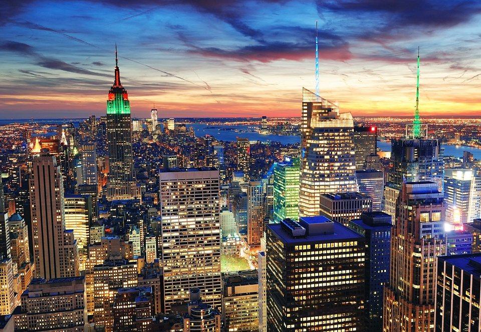Home affaire Fototapete »New York«, Größe: 272/198 cm in blau