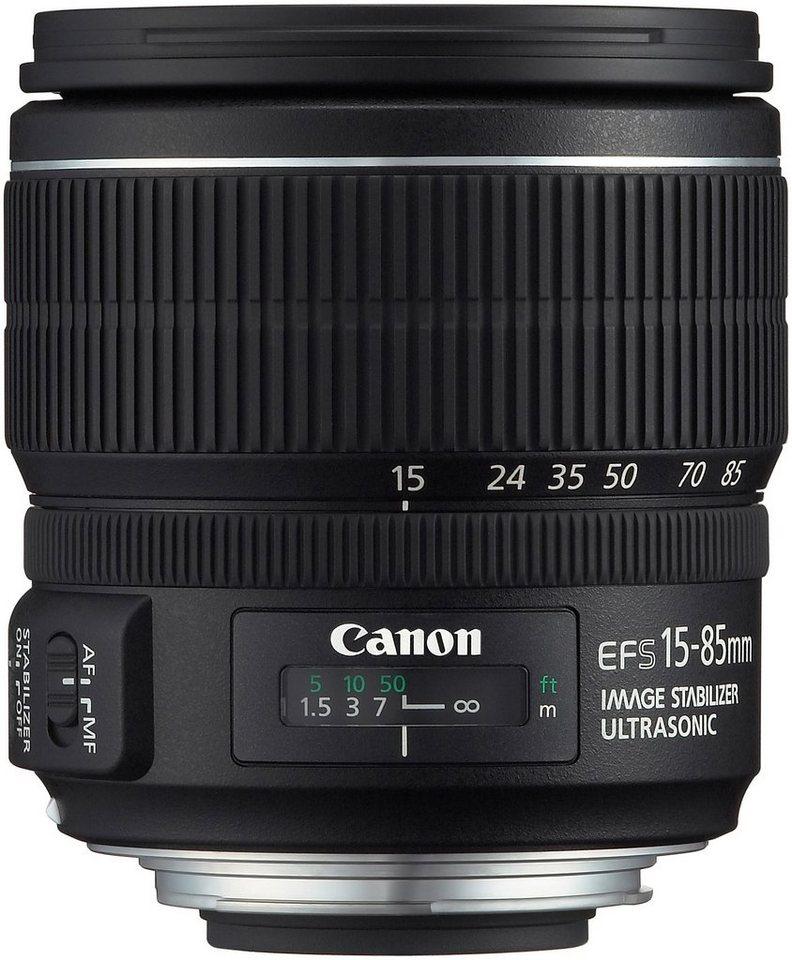 Canon EF-S 15-85mm f/3.5-5.6 IS USM Standardzoom Objektiv in schwarz
