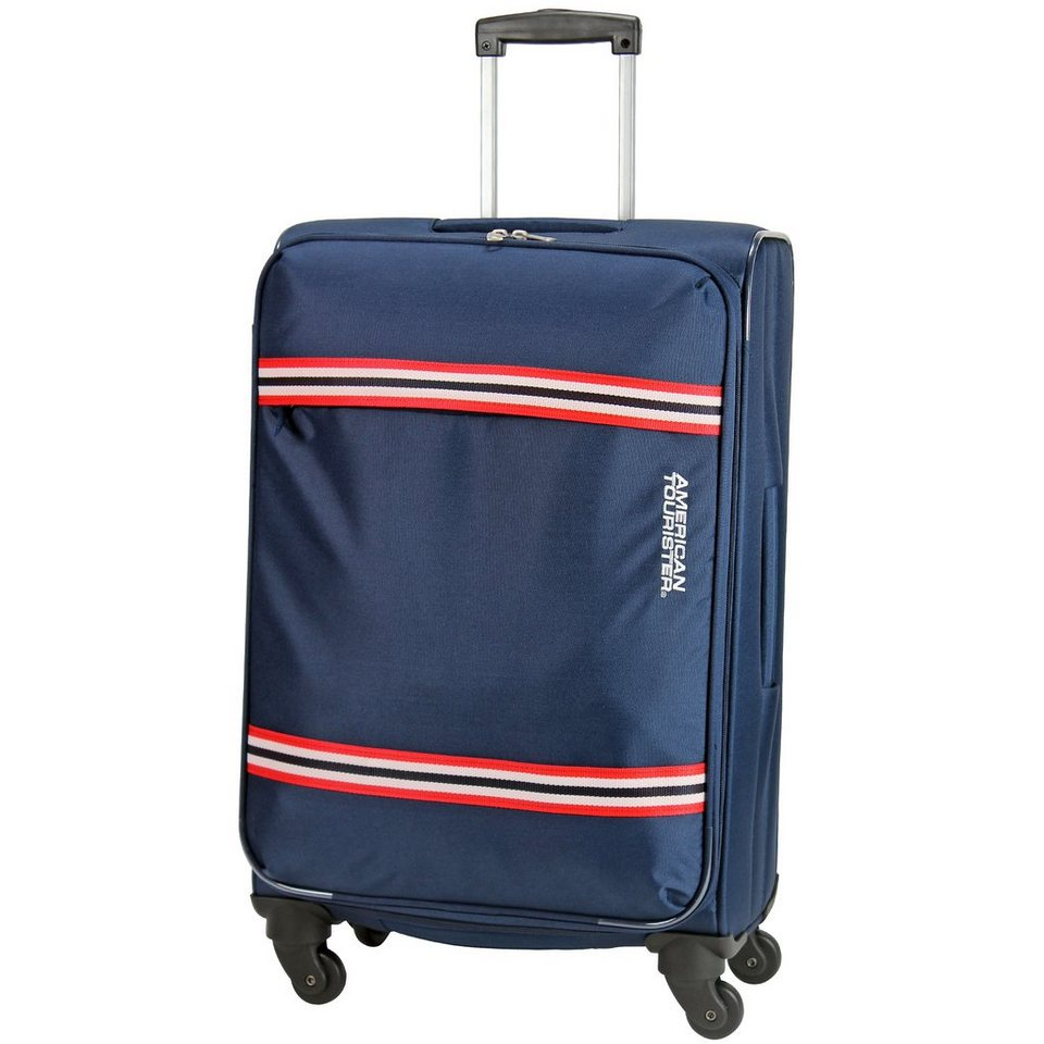 Tourister berkeley spirit spinner 4 rollen trolley 65 cm in blue red