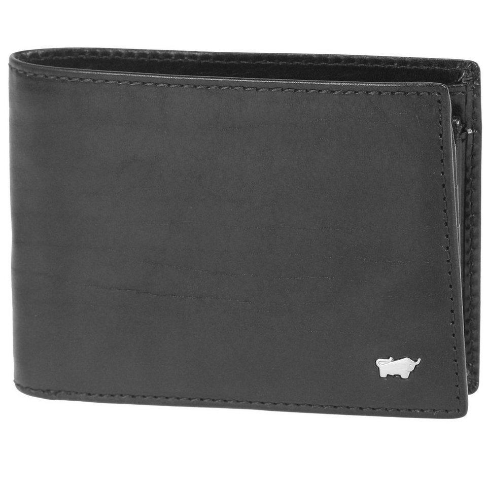 Braun Büffel Basic Geldbörse Leder 12,5 cm in schwarz