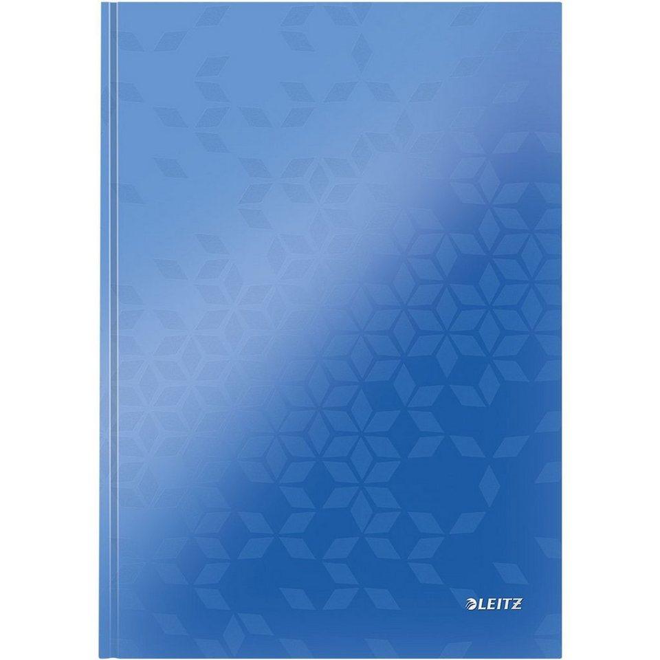 Leitz Notizbuch »WOW« in metallicblau