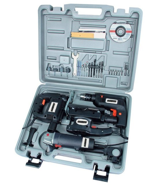 Brueder Mannesmann Werkzeuge Elektrogeräte-Set »Elektrogerätesatz, 4-tlg.« | Baumarkt > Werkzeug > Werkzeug-Sets | Brüder Mannesmann Werkzeuge