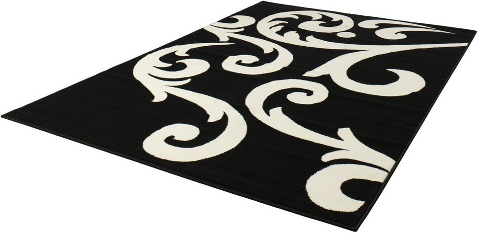 Teppich, Hanse Home, »Tantan«, Ornament-Design, gemustert, gewebt in Schwarz Creme