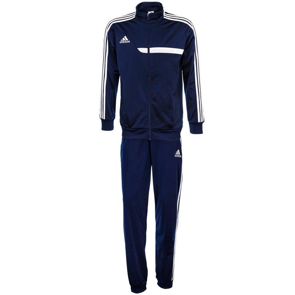 adidas Performance Set: Tiro 13 Polyesteranzug Herren (Packung, 2 tlg.) in dunkelblau / weiß
