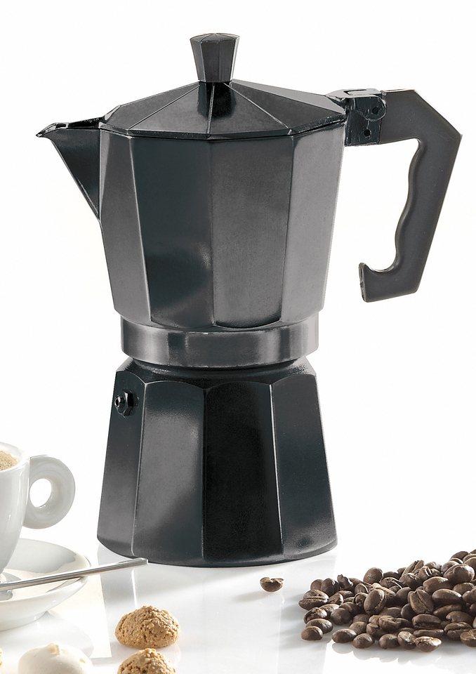 Espressokocher, Krüger in schwarz