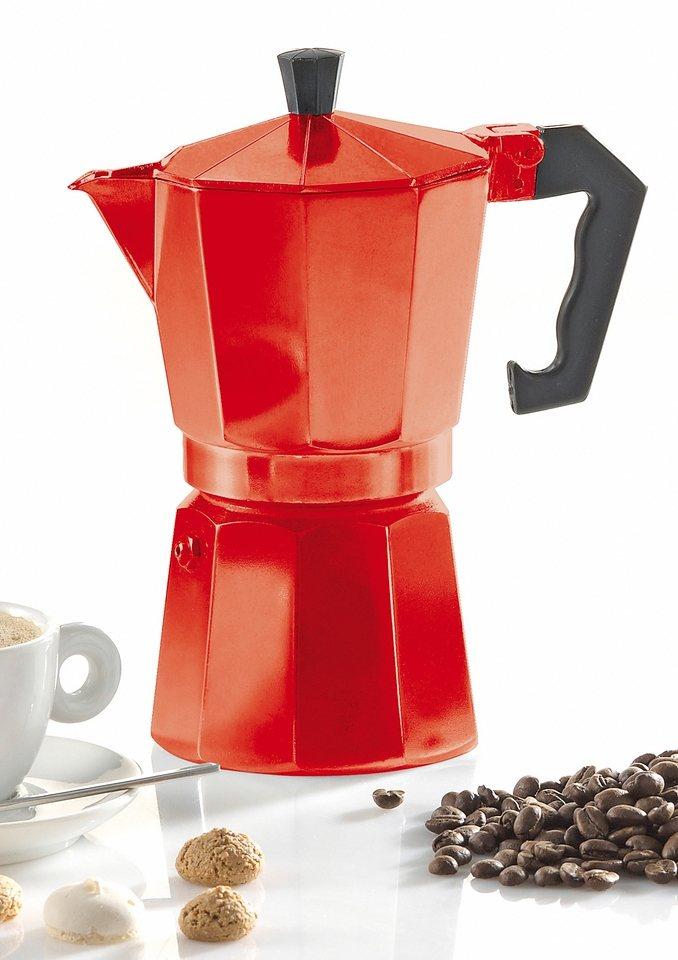 Espressokocher, Krüger in rot