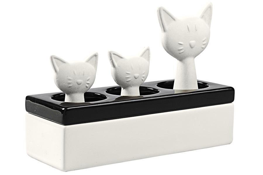 Luftbefeuchter Katzenfamilie in schwarz/weiß