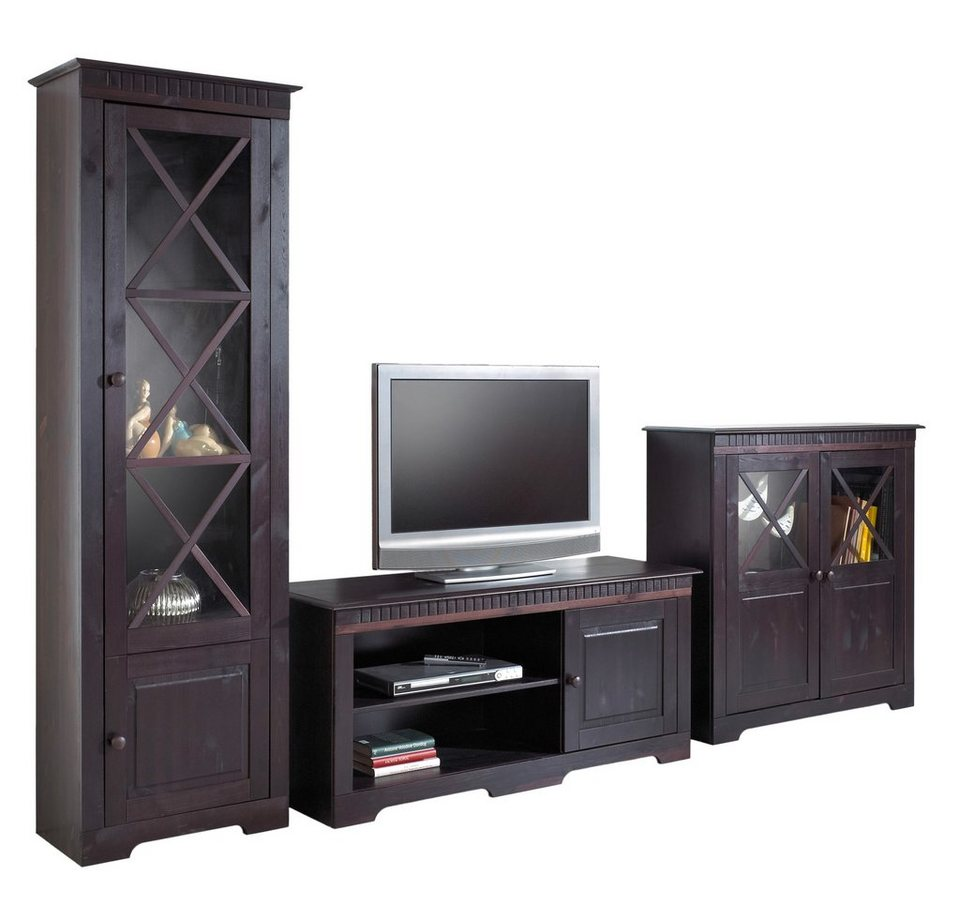 wohnwand 3 tlg home affaire breite 295 cm otto. Black Bedroom Furniture Sets. Home Design Ideas