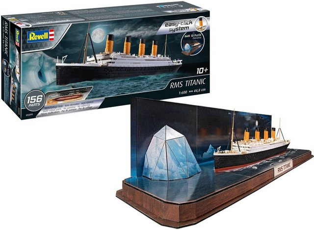 Image of easy-click RMS Titanic + 3D Puzzle (Iceberg) 1:600, 156 Teile