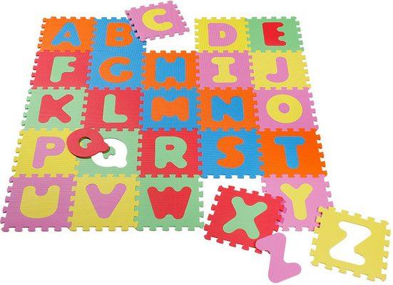 Knorrtoys® Puzzle »Alphabet«, 26 Puzzleteile, Puzzlematte, Bodenpuzzle