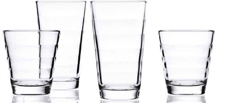 LEONARDO Gläser-Set »Onda«, Glas, je 6 kleine und große Becher