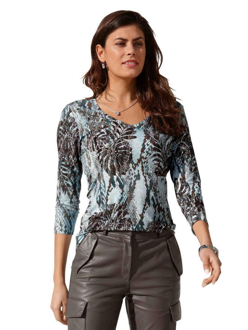 Amy Vermont 3/4-Arm-Shirt mit grafischem Muster