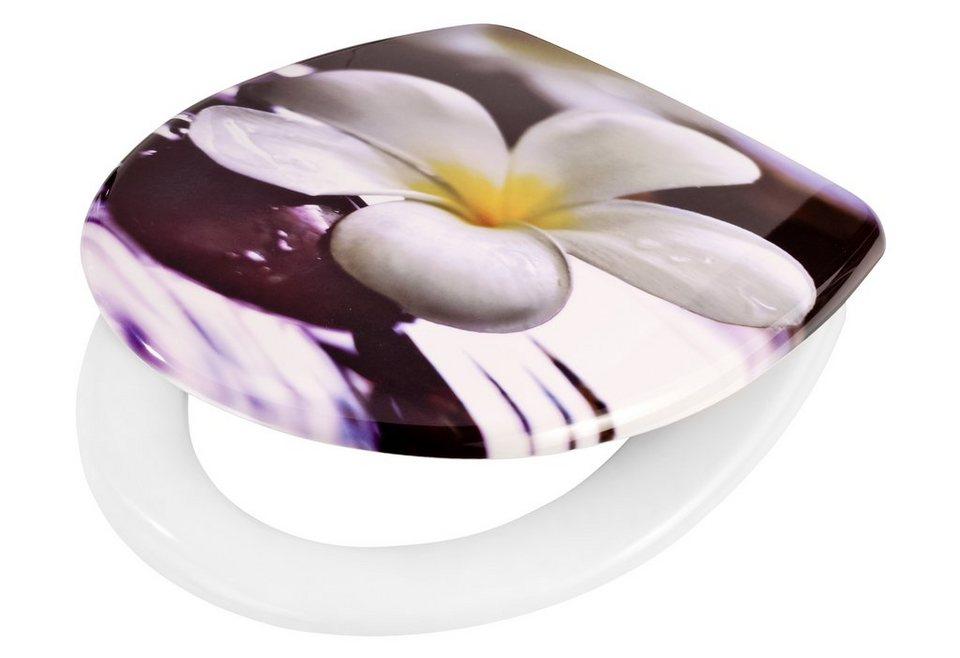 WC-Sitz »Tempelblume«, Mit Absenkautomatik in bunt