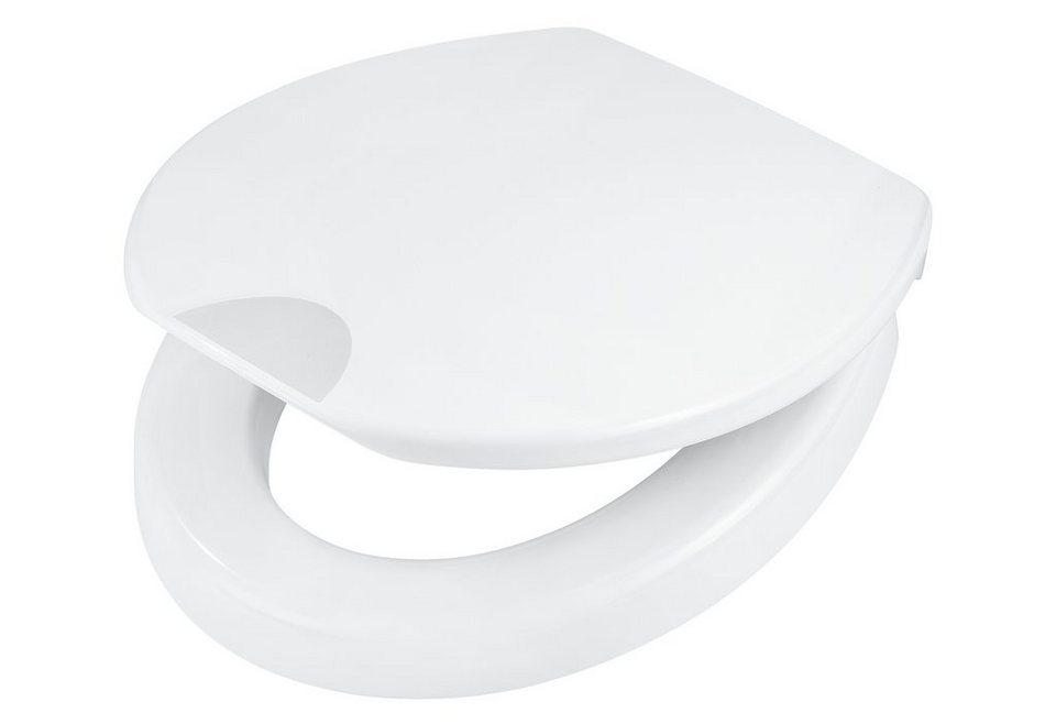 WC-Sitz »Mantova«, Mit 5 cm Sitzerhöhung und Absenkautomatik in weiß