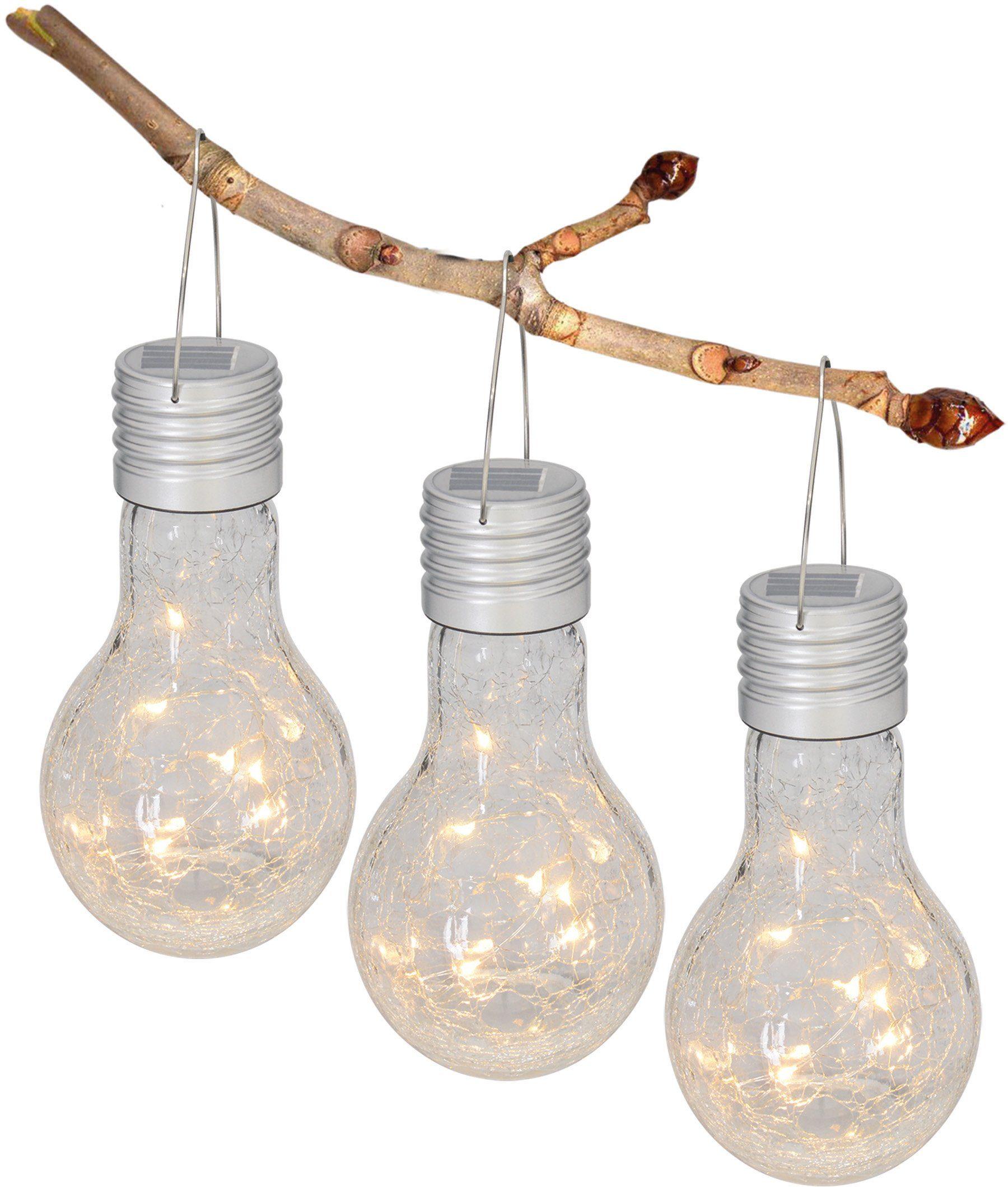 5er Set LED Solarleuchte Solar Gartenleuchte Außenlampe Dekoration Dekostein