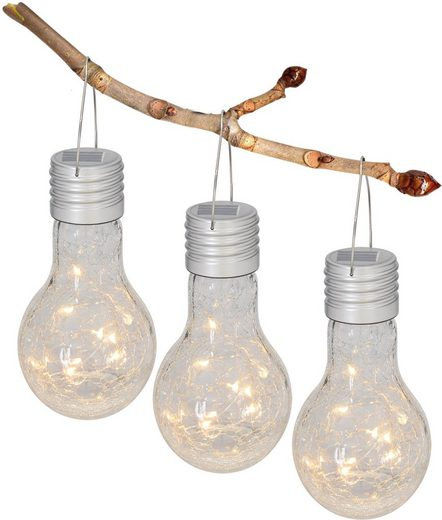 näve LED Gartenleuchte, 3er-Set