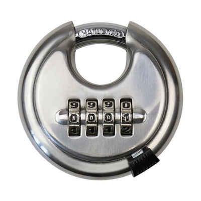 HMF Vorhängeschloss »3502-09«, Rundschloss, 4er Zahlenkombination, 7 x 7 x 2,4 cm