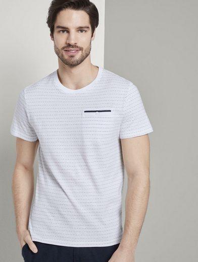 TOM TAILOR T-Shirt »T-Shirt mit Strukturmuster«