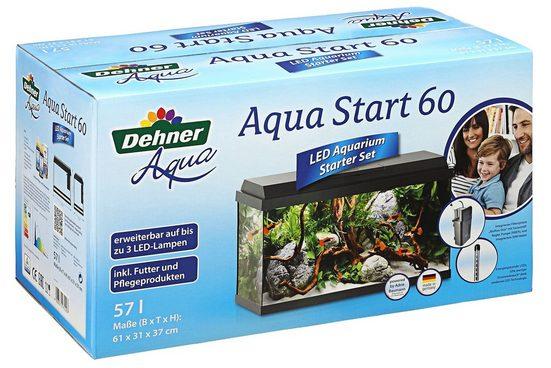 Dehner Aquarien-Set »60mit Futter/Pflegeprodukten, 61 x 37 x 31 cm«
