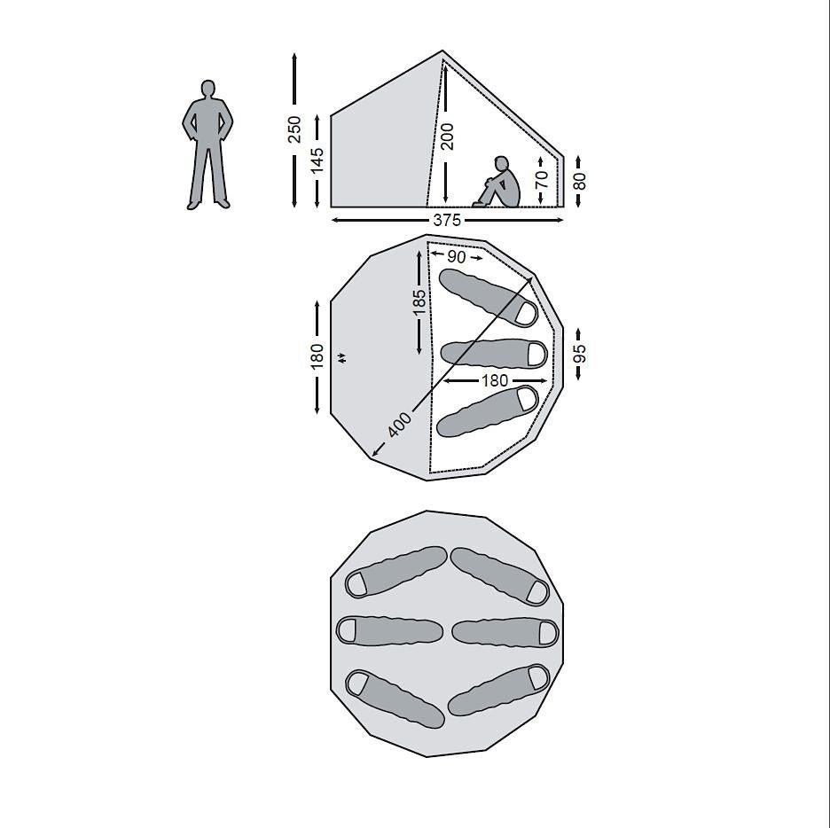 Nordisk Zelt »Asgard 12.6 m² Inner Cabin Technical Cotton« in beige