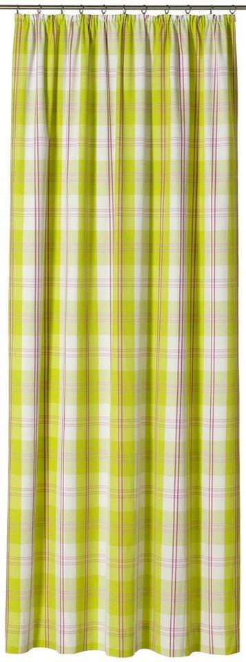 Vorhang, Gardisette, »Roma Check« (1 Stück) in grün/ lila