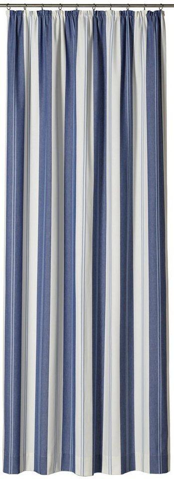Vorhang, Gardisette, »Roma Stripe« (1 Stück) in blau/creme