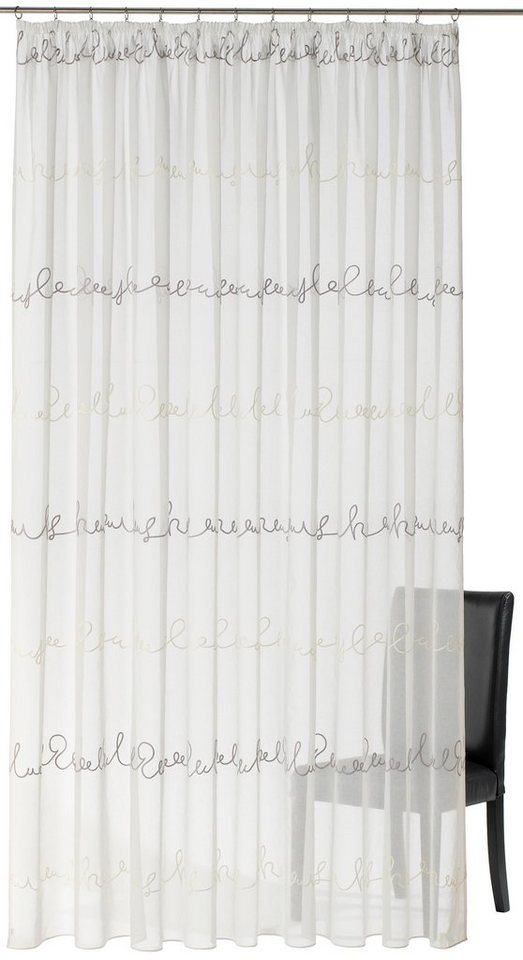 gardine script gardisette kr uselband 1 st ck online kaufen otto. Black Bedroom Furniture Sets. Home Design Ideas
