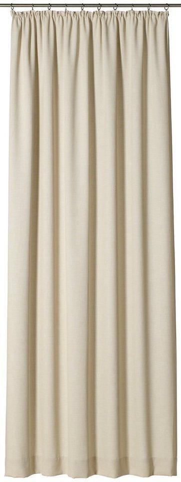 Vorhang, Gardisette, »Court«, mit Kräuselband (1 Stück) in beige