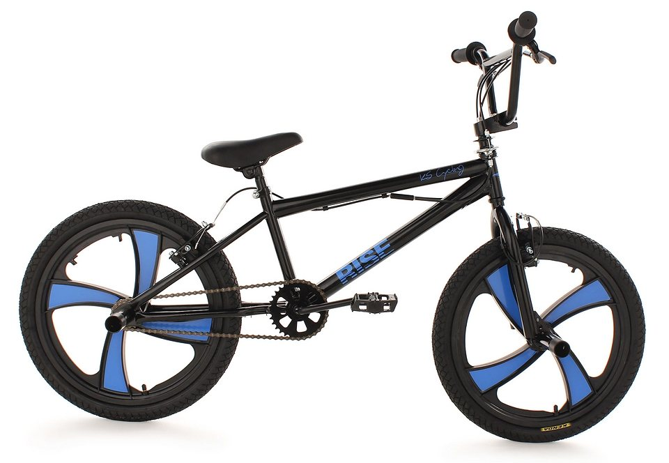 BMX Fahrrad, KS Cycling, »Rise«, schwarz, 20 Zoll, V-Brakes in schwarz
