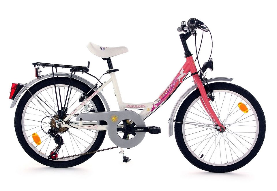 Kinderfahrrad, KS Cycling, »Fabulous«, 20 Zoll, rosa, 6 Gang Shimano Toruney, V-Brake