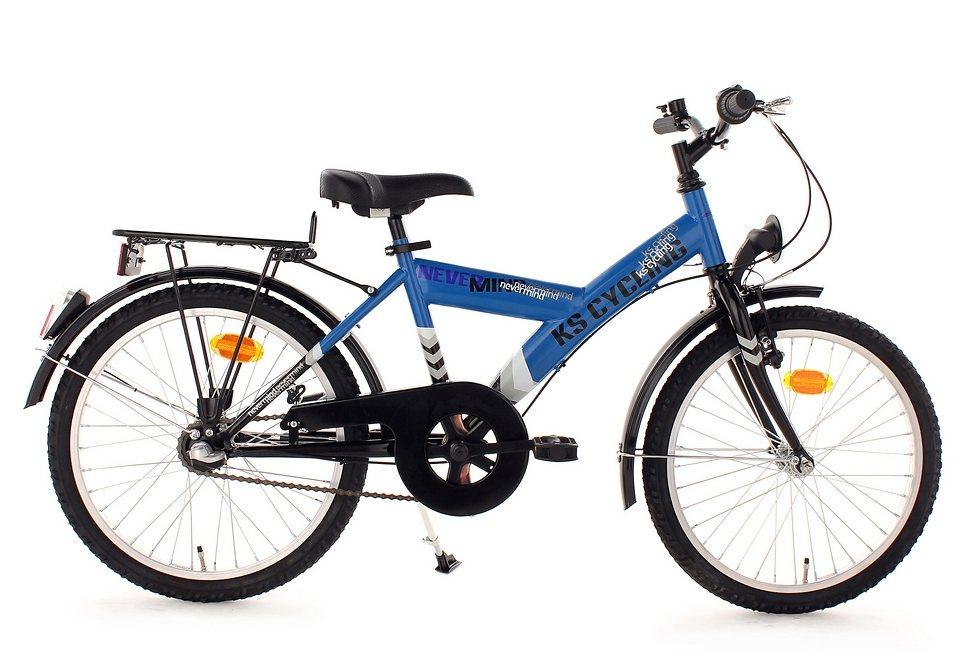 Kinderfahrrad, KS Cycling, »Nevermind«, 20 Zoll, 3 Gang Nabenschaltung, V-Brake + Rücktritt in blau-schwarz