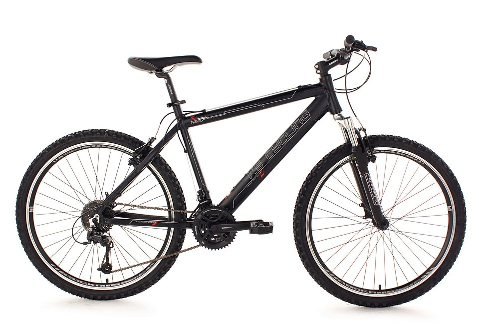 Mountainbike, KS Cycling, »Heed«, Hardtail, 26 Zoll, 24 Gang Shimano Deore, V-Brakes in schwarz