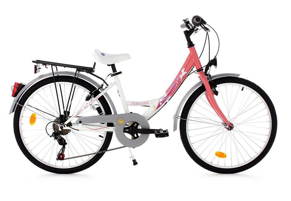Jugendfahrrad, KS Cycling, »Fabulous«, 24 Zoll, rosa, 6 Gang Shimano Kettenschaltung, V-Brakes