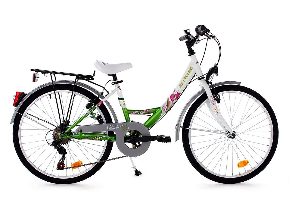 Jugendfahrrad, KS Cycling, »Papilio«, 24 Zoll, weiß, 6 Gang Shimano Kettenschaltung, V-Brakes