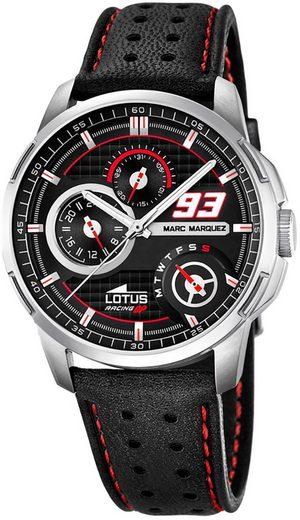 Lotus Multifunktionsuhr »UL18241/4 Lotus Herren Uhr Sport L18241/4 Leder«, (Analoguhr), Herren Armbanduhr rund, groß (ca. 43mm), Lederarmband schwarz