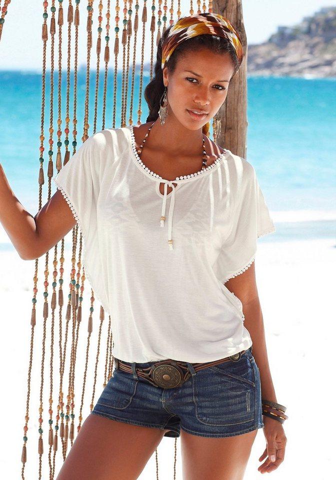LASCANA Strandshirt in creme