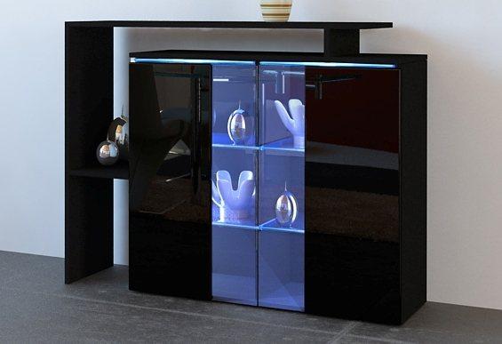 Kommode, Breite 114 cm in schwarz