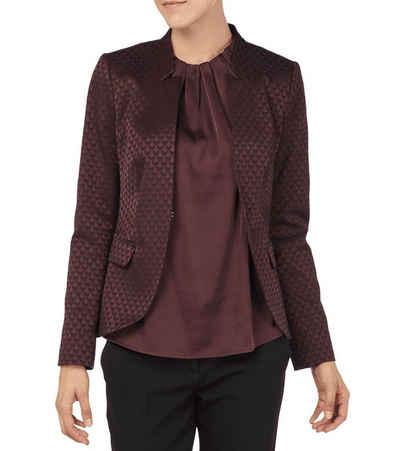 Comma Kurzblazer »COMMA Blazer modische Damen Business-Jacke mit Allover-Muster Jäckchen Bordeaux«