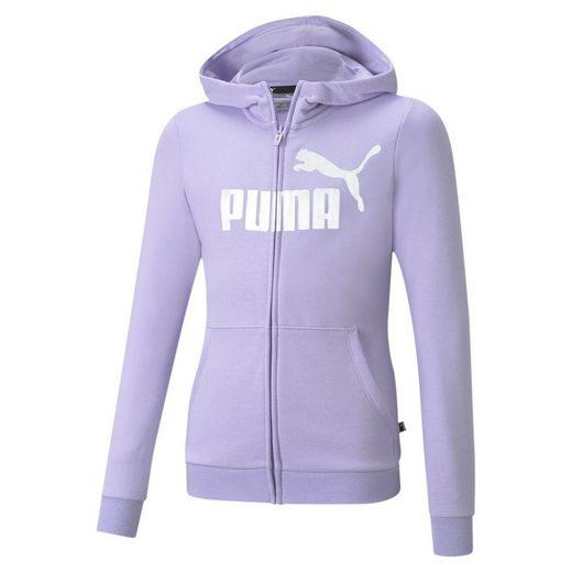 PUMA Sweater »Essentials+ Jugend Kapuzenjacke mit Logo«