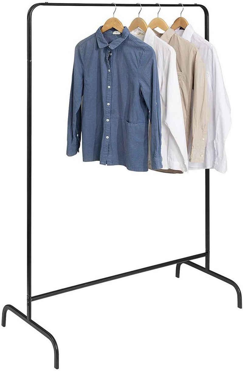 EUGAD Garderobenständer, (1 St), Kleiderständer, Kleiderstange, Metall, Schwarz
