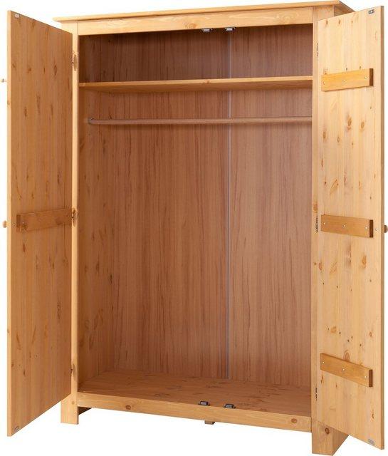 Flurschränke und Regale - Home affaire Garderobenschrank »Bertram« aus schönem massivem Kiefernholz, mit einer Spiegeltür, Höhe 170 cm  - Onlineshop OTTO