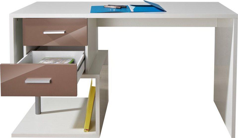 Schreibtisch »Essen«, mit Schubkästen in weiß-cappuccino