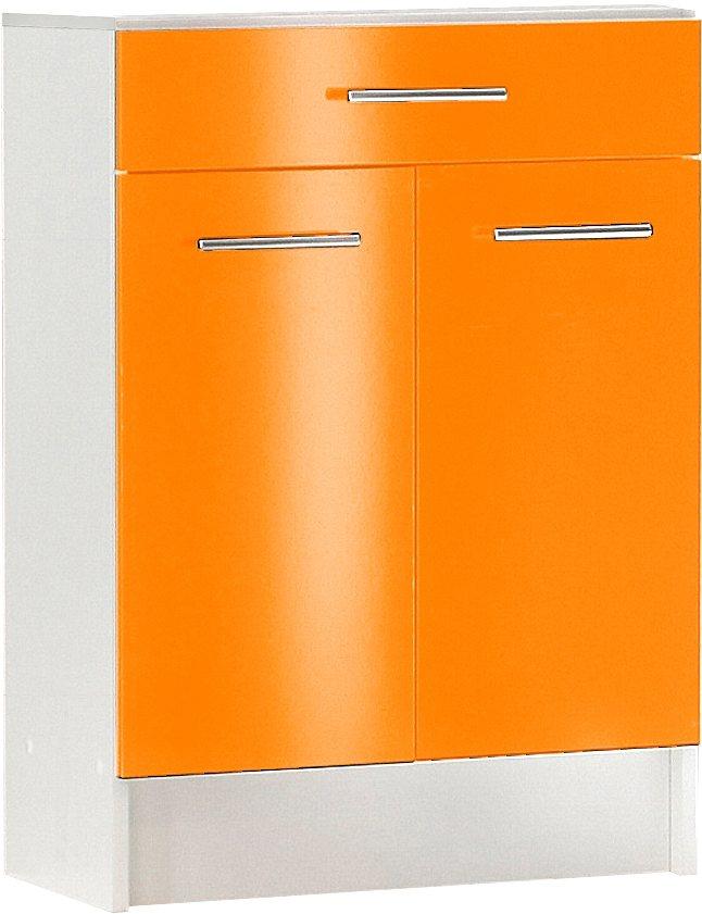 Unterschrank, Schildmeyer, »Sellin«, Breite 60 cm in weiß-orange