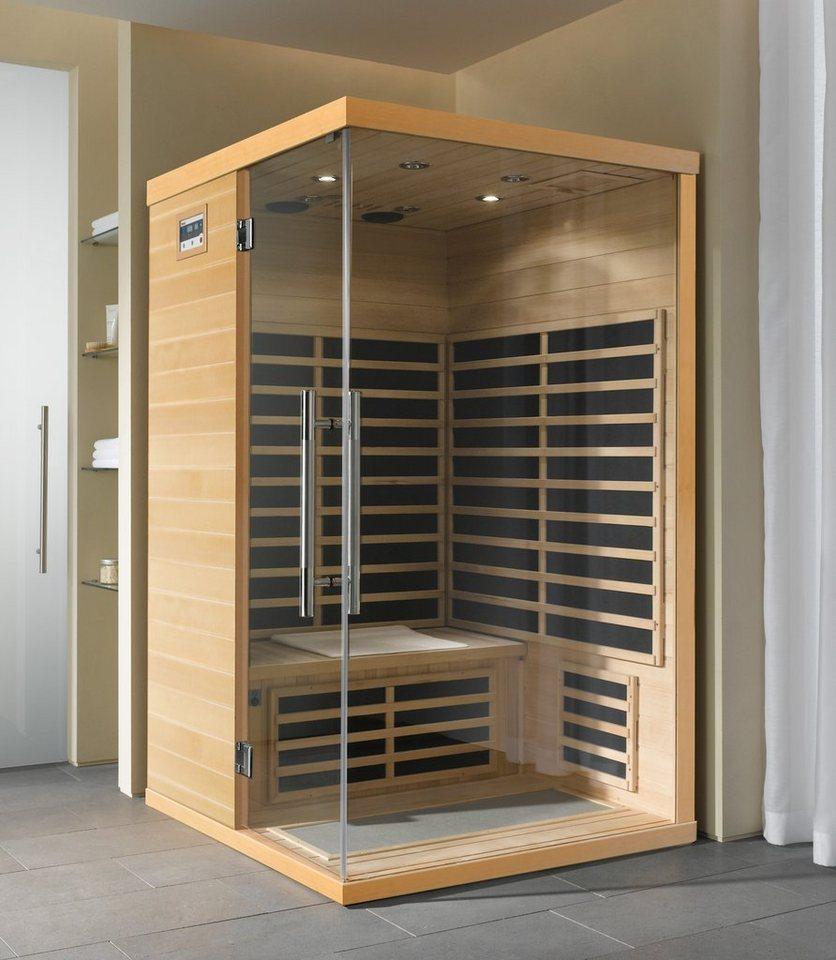 Helo Family Komplett-Set: Design-Infrarot-Wärmekabine »COMFORT« mit Glasecke in braun