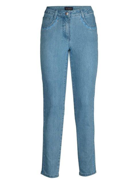 Hosen - Amy Vermont Jeans mit Stickerei und Strasssteindekoration › blau  - Onlineshop OTTO