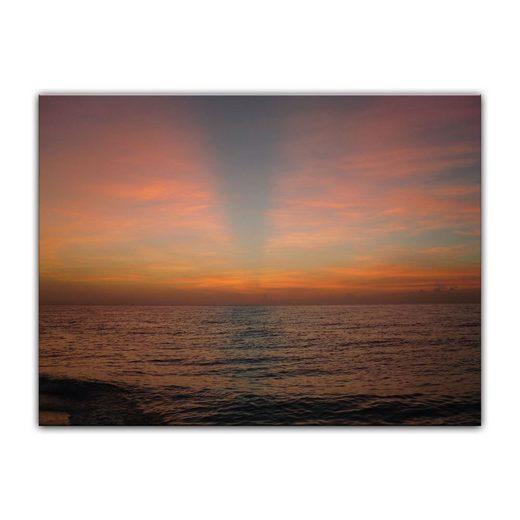 Bilderdepot24 Leinwandbild, Leinwandbild - Sonnenuntergang am Meer