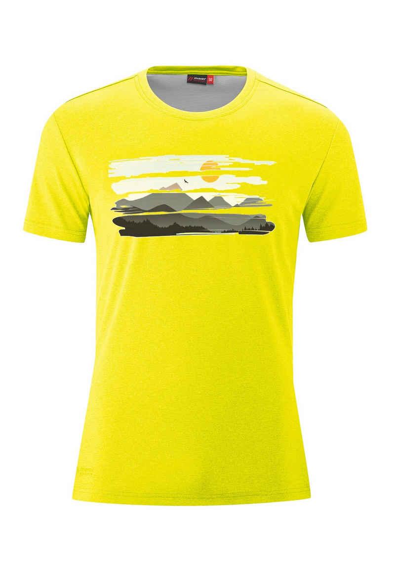 Maier Sports Funktionsshirt »MountView Tee« Funktionales T-Shirt mit natürlichem antibakteriellem Schutz