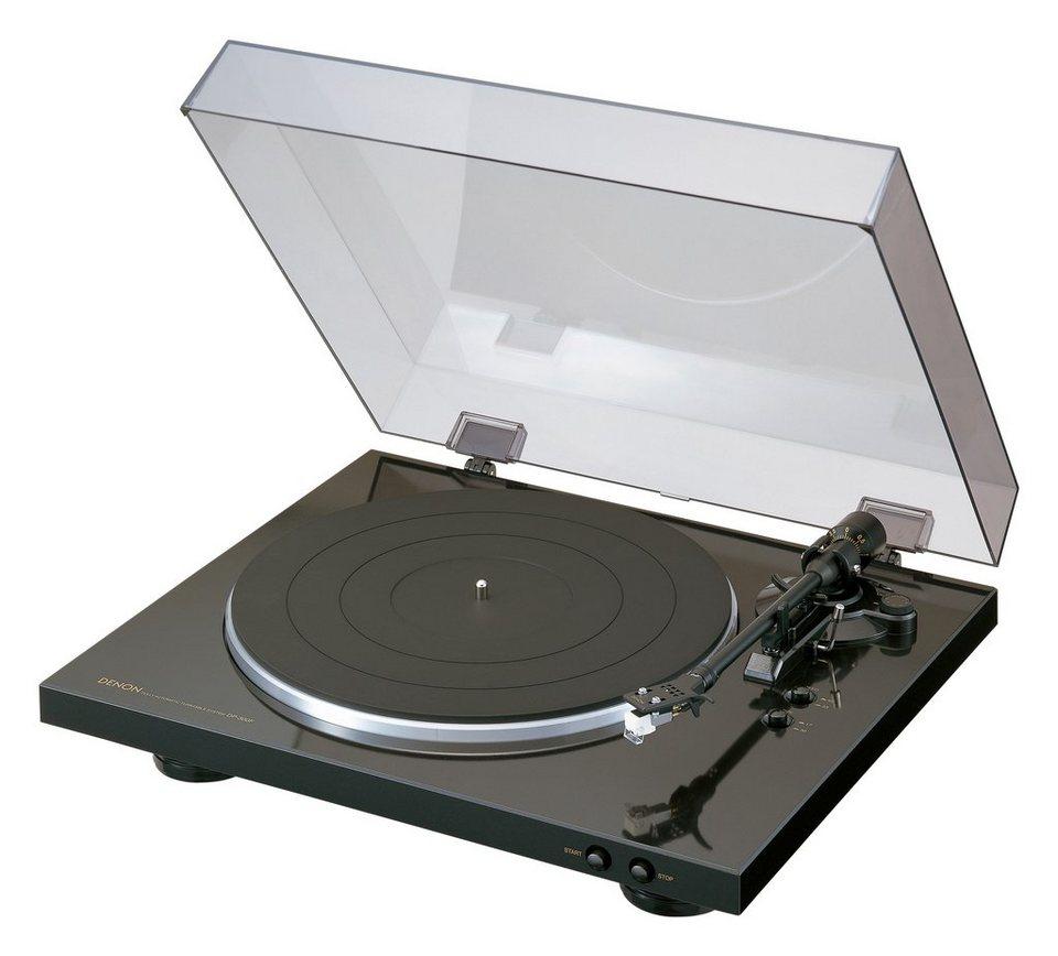 Denon DP-300F Plattenspieler in schwarz
