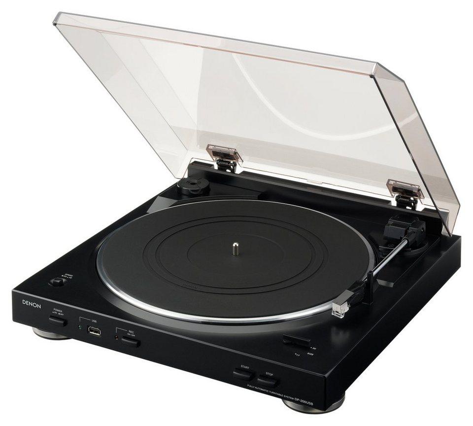Denon DP-200USB USB-Plattenspieler, Schallplattendigitalisierer in schwarz